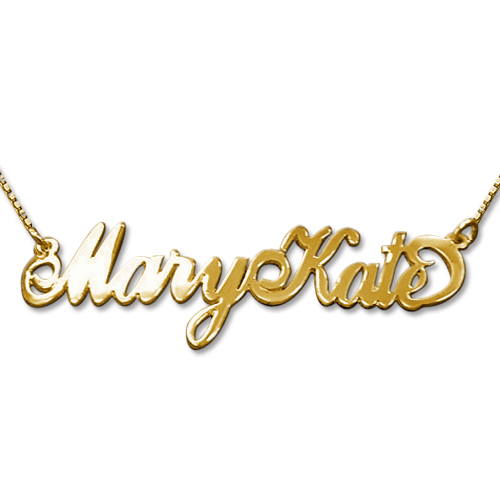Two Capital Letters 14k Gold