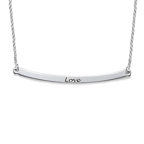 Valentines Day Gift Ideas - Bar Necklace