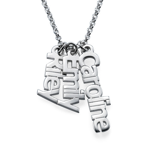 vertical name necklace in sterling silver mynamenecklace