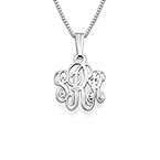 XS Silver Monogram Necklace