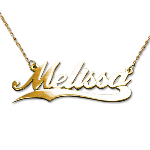 personalized 14k gold wave name necklace mynamenecklace