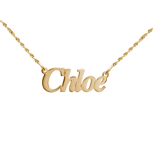 MyNameNecklace.com Small Angel Style 14k Gold Name Jewelry at Sears.com