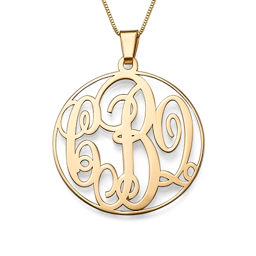 My Name Necklace Jewel-14K Solid Gold Monogram Necklace at Sears.com