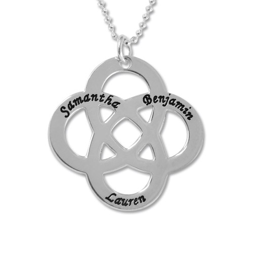 My Name Necklace Jewel-Sterling Silver Engraved Celtic Knot Necklace at Sears.com