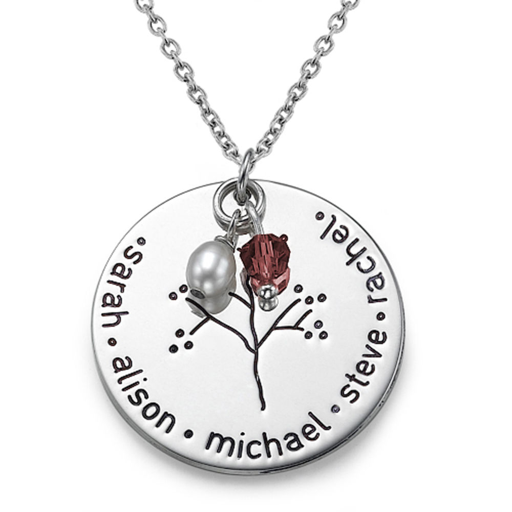 My Name Necklace Jewel-Sterling Silver Family Tree Necklace at Sears.com