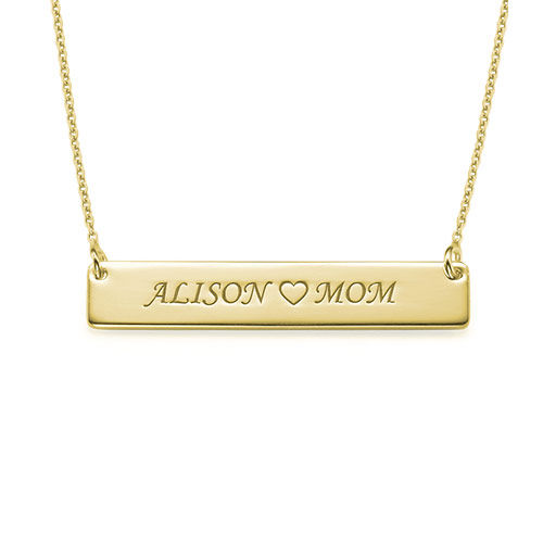 My Name Necklace Jewel-Personalized Nameplate Necklace for Mom in 18k Gold Plating at Sears.com