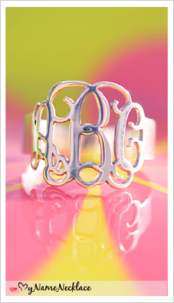 A Sterling Silver Monogrammed Ring