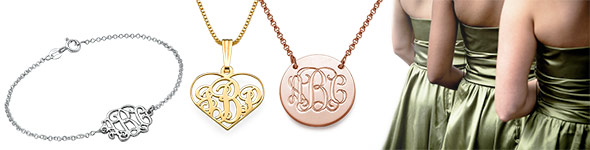 Customized Bridesmaid Jewelry and More: Five Monogrammed Gift Ideas You'll Love
