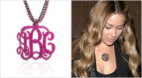 Monogram Necklace Lauren Conrad