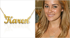 Name Necklace Lauren Conrad