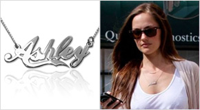 Name Necklace Minka Kelly