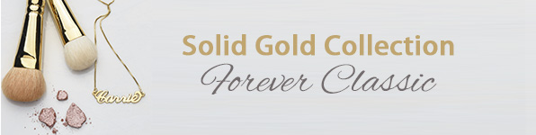 Solid Gold Name Necklaces & Jewelry