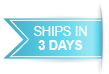 Item ships in 3 days