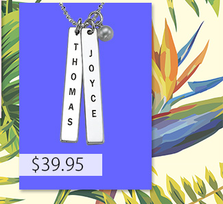 Engraved Name Tag Necklace