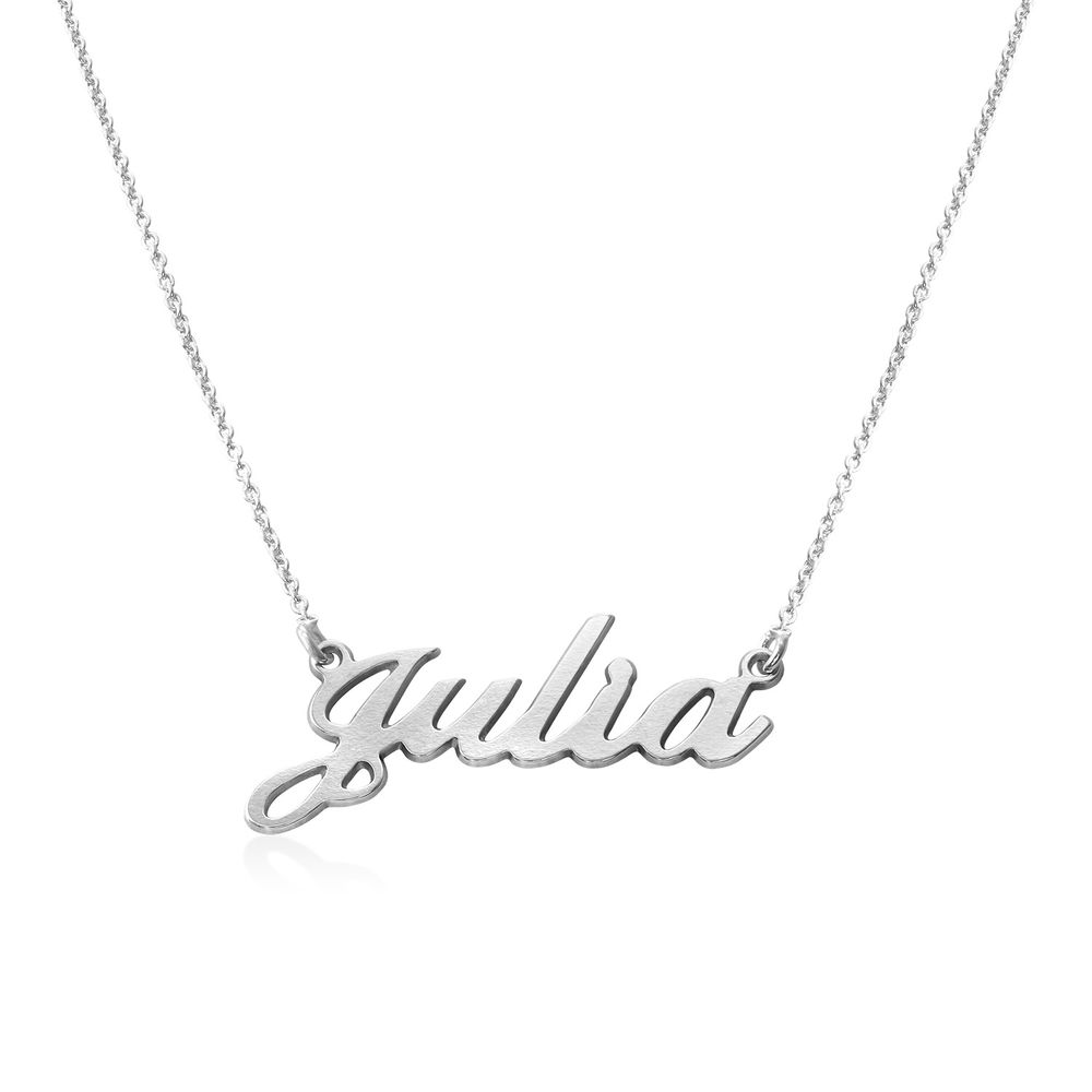 Collana con nome personalizzato carattere classico in argento 925