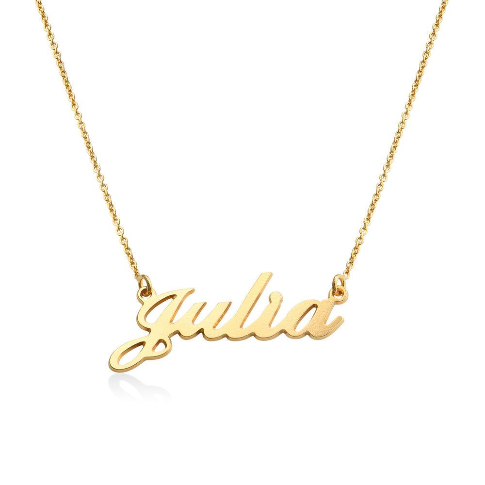 Collana con nome personalizzato carattere classico in argento placcato oro 18k foto del prodotto