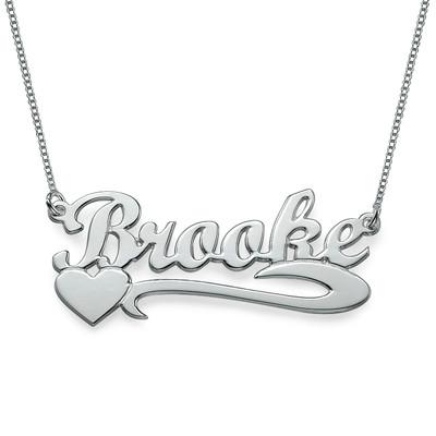 Collana con nome personalizzato Cuore d'argento foto del prodotto