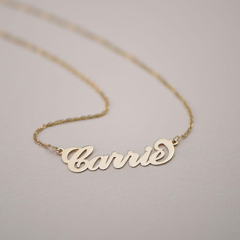 """Collana con nome personalizzato stile """"Carrie"""" in oro 14k - 1"""