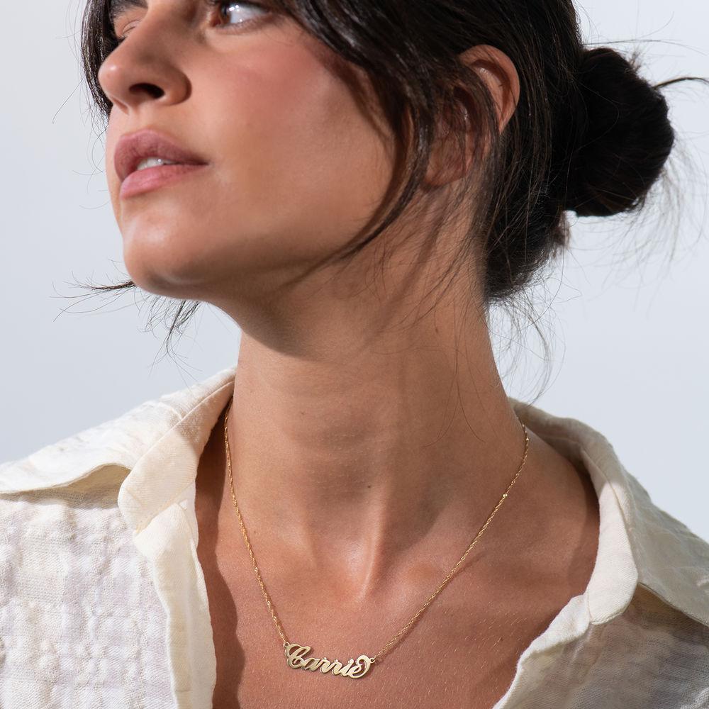 """Collana con nome personalizzato stile """"Carrie"""" in oro 14k - 2"""