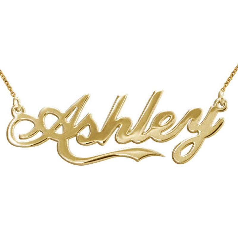 Collana con nome personalizzato ispirato allo stile Coca Cola in argento placcato oro 18k