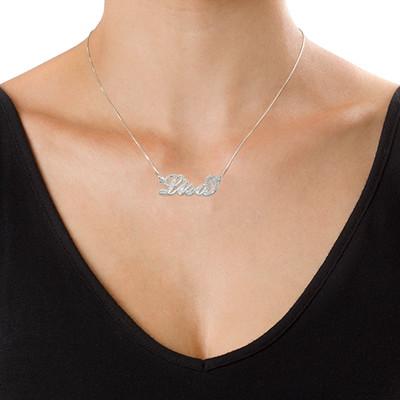 "Collana stile ""Carrie"" in argento 925 finitura diamantata - 2"