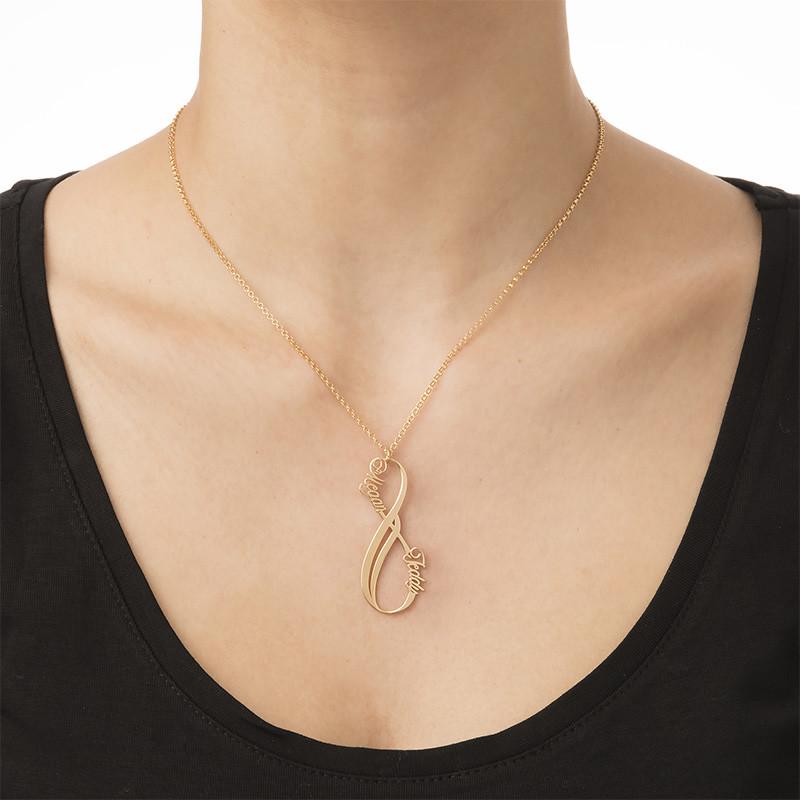 Collana Infinito Verticale Placcata in Oro - 1