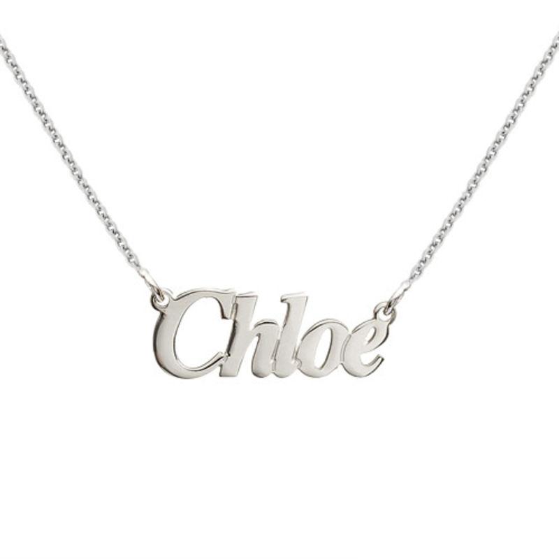 Collana con nome personalizzato stile angelo piccolo in argento