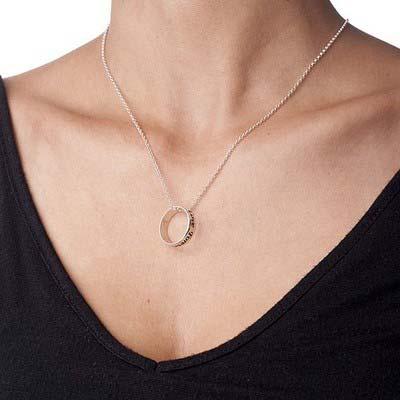 Collana con Anello Personalizzata in Argento 925 - 1