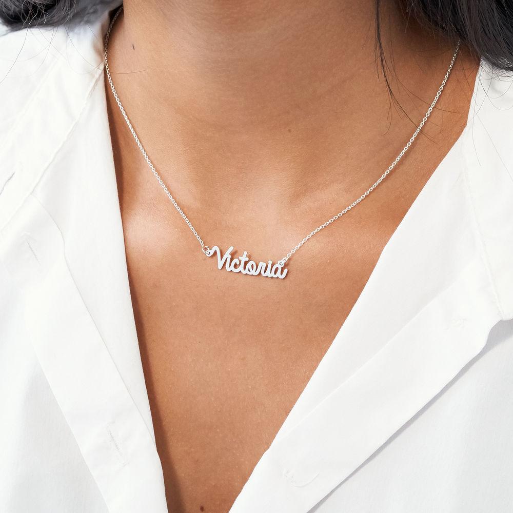 Collana con nome in corsivo in argento - 3