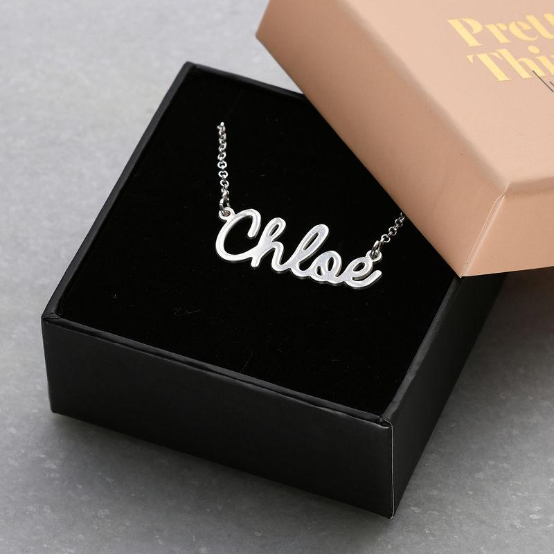 Collana con nome in corsivo in argento - 5