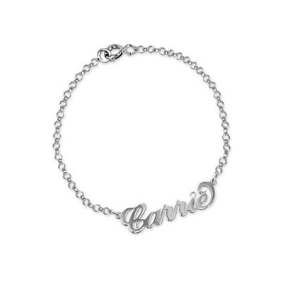 Braccialetto / cavigliera personalizzabile in argento e cristallo - 1