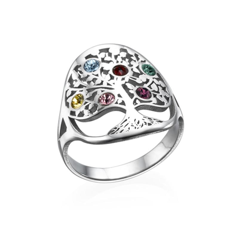 Gioielli con Albero della Vita – Anello con pietre Portafortuna - 1
