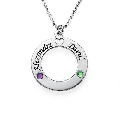 Cerchio della Vita in argento e cristalli - 1