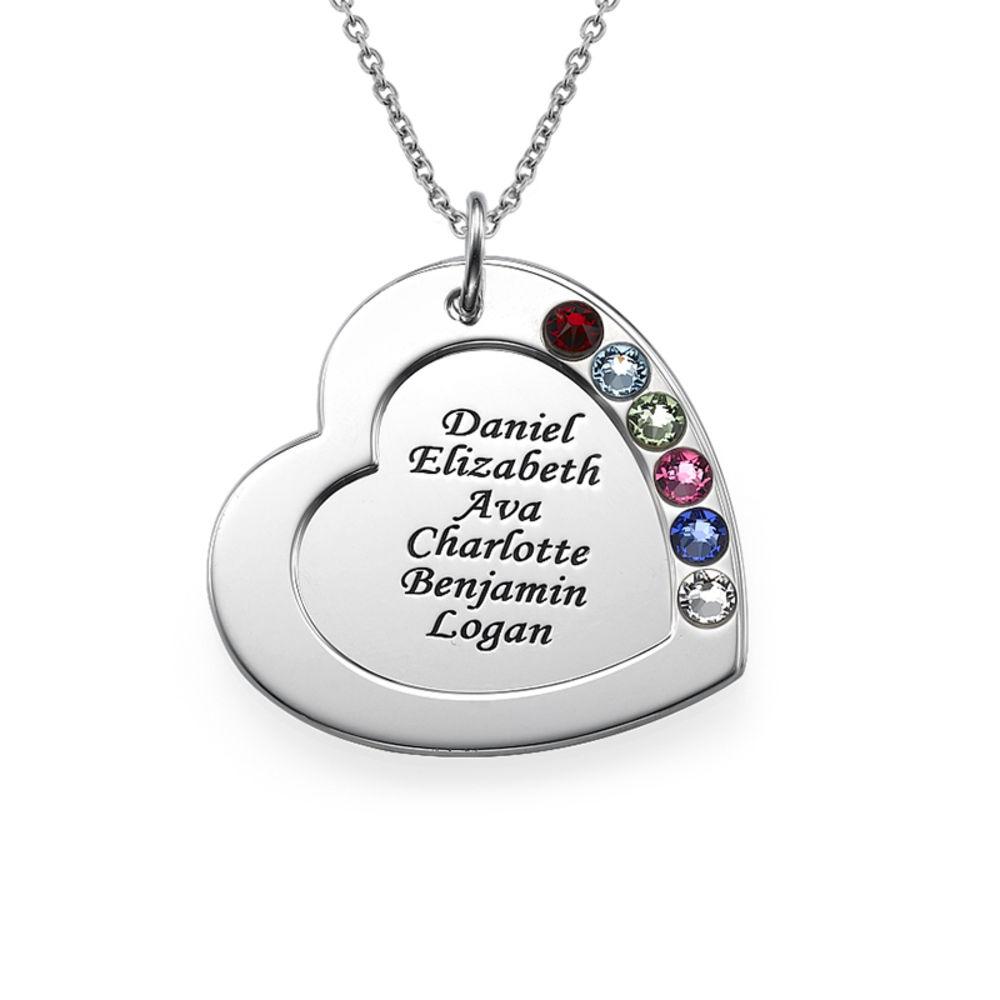 Regalo Personalizzato Per La Mamma Collana Cuore Famiglia