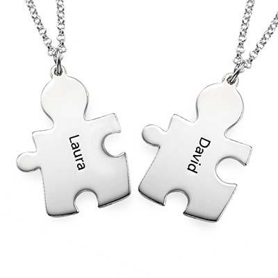 Collana con Puzzle Personalizzato in Argento 925 foto del prodotto