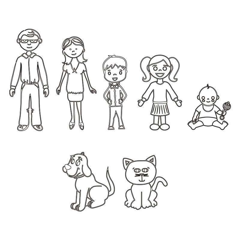 Collana Famiglia in Argento - 3