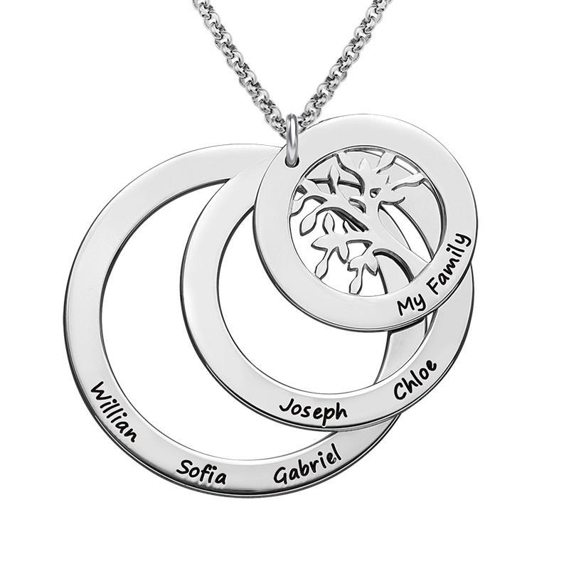 Collana Famiglia con Cerchi e Albero della Vita - 1