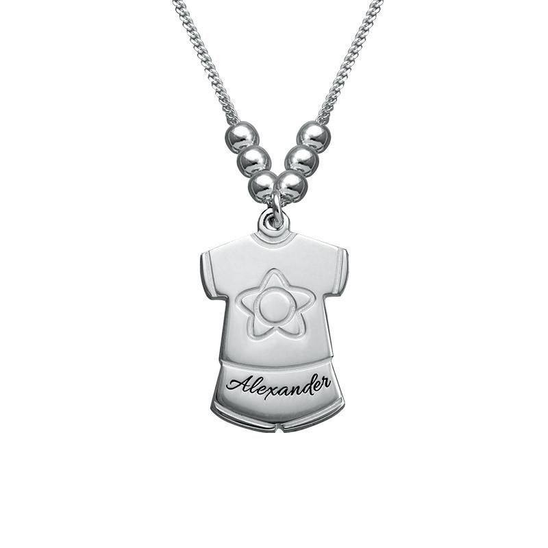 Collana della Mamma con Charms a vestitino di bambino - 1