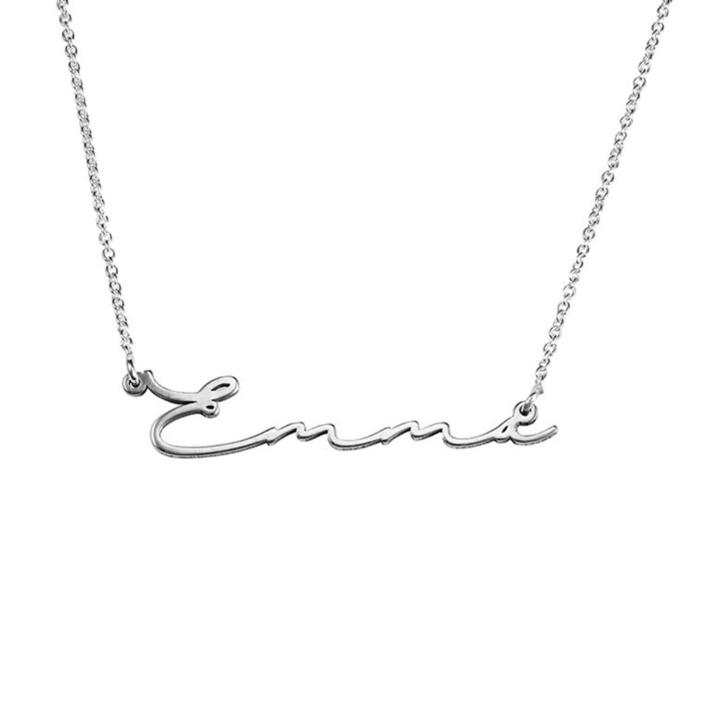 Collana con Nome con Firma - Argento product photo
