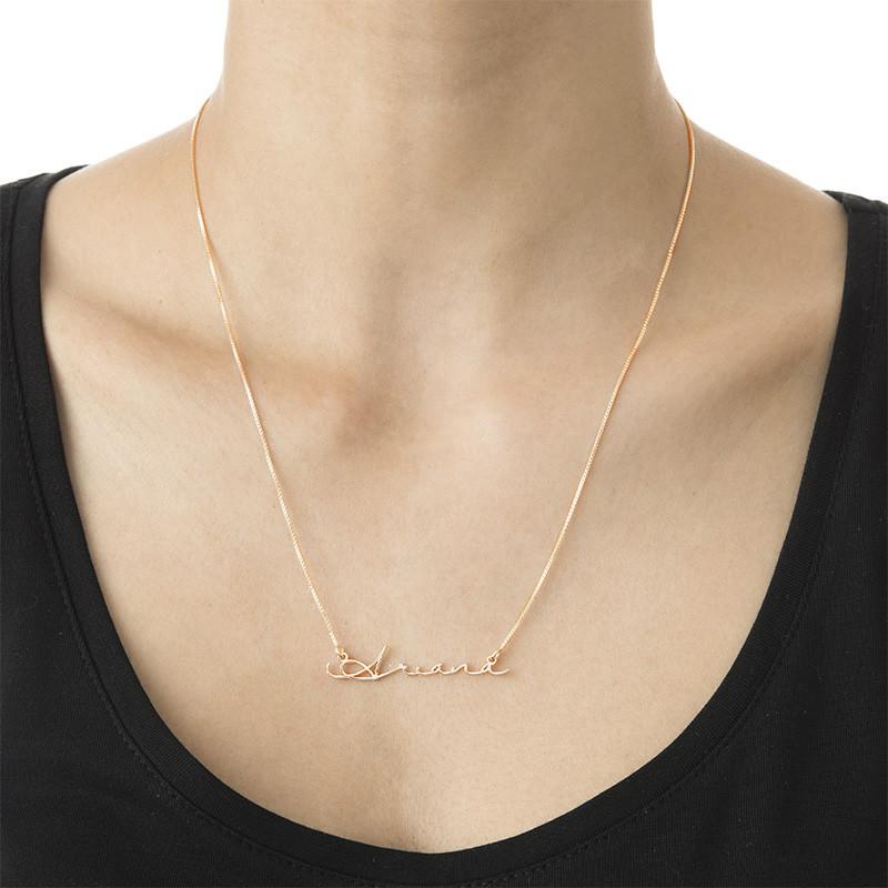 Collana con Nome con Firma - placcata Oro Rosa - 2