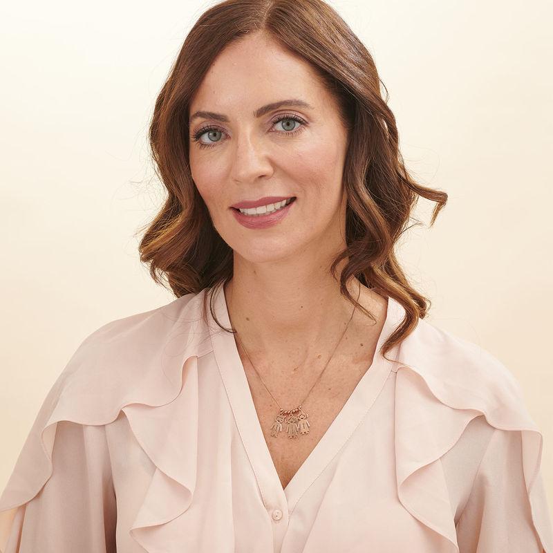 Collana della Mamma con pendente Bimbi Incisi - In Oro Placcato Rosa - 6