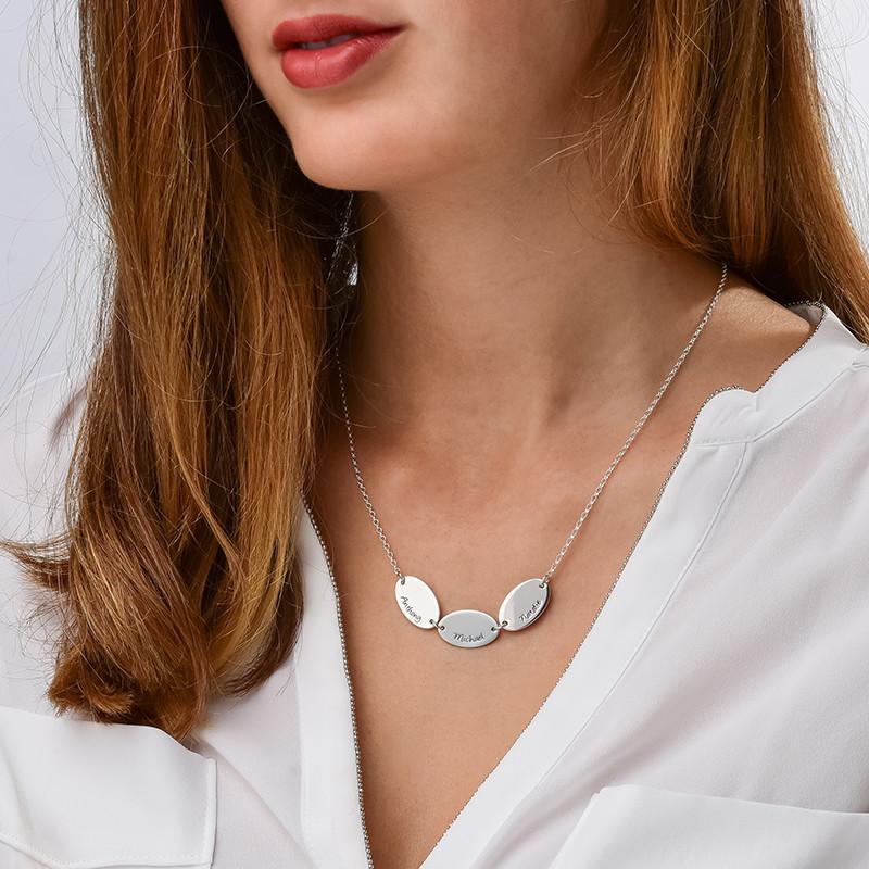 Collana della mamma con nomi dei bimbi, di forma ovale - 2