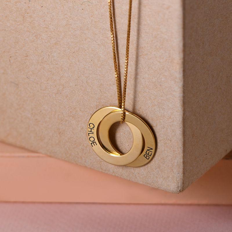 Collana alla Russa con doppio anello placcata in oro - 2