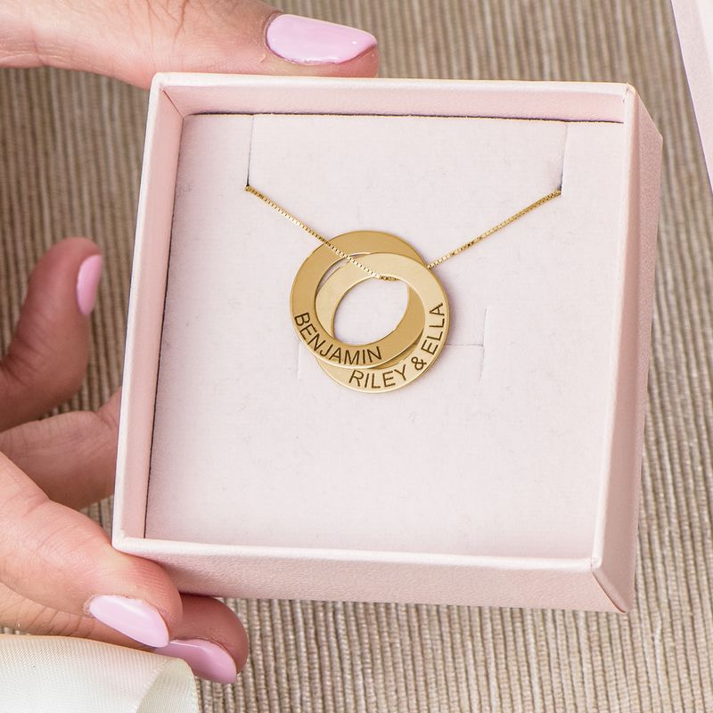 Collana alla Russa con doppio anello placcata in oro - 7
