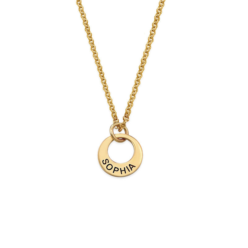 Collana Piccola con Mini Disco placcata Oro