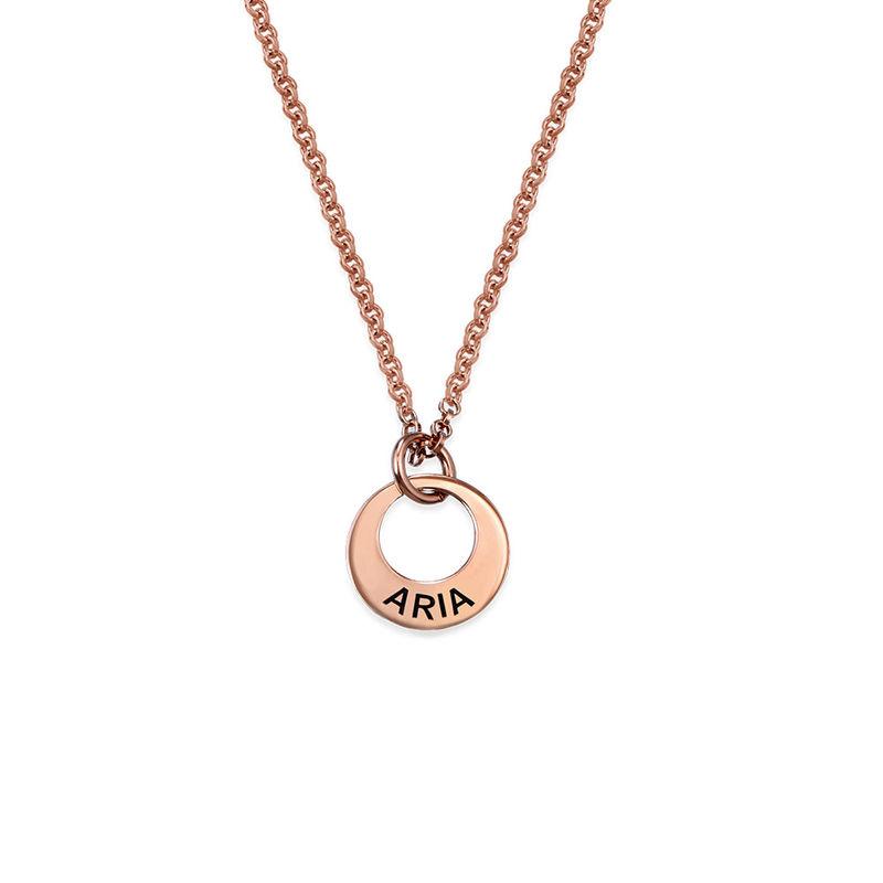 Collana Piccola con Mini Disco placcata Oro Rosa