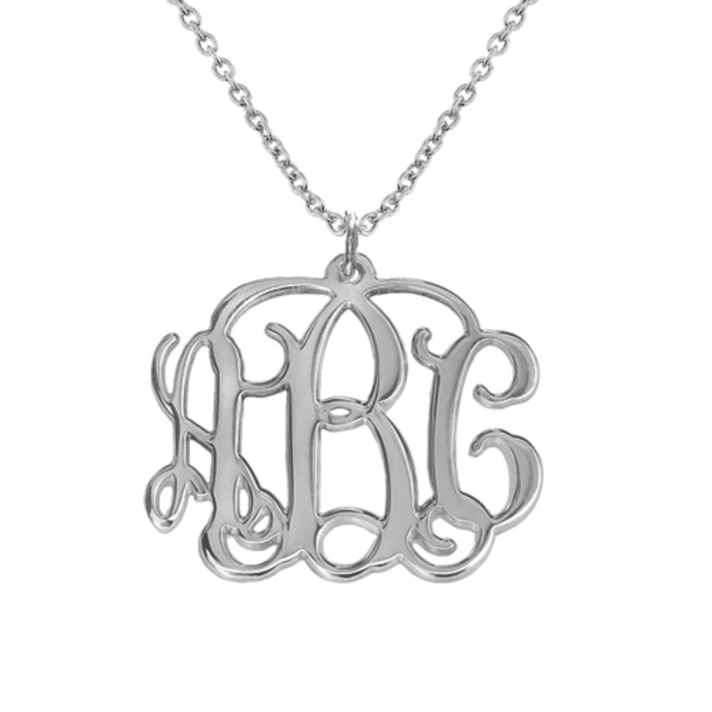 Collana con iniziali Monogramma in argento product photo