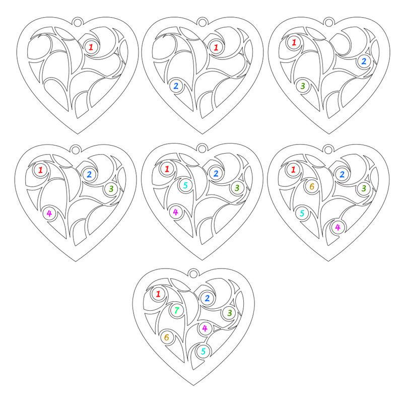 Ciondolo Albero della Vita a Forma di Cuore con Diamanti Placcato Oro Rosa - 3