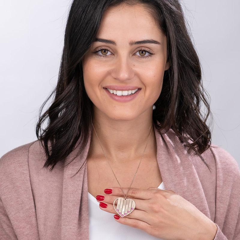 Collana per la Mamma con Pietre Portafortuna con Placcatura in Oro Rosa - 6