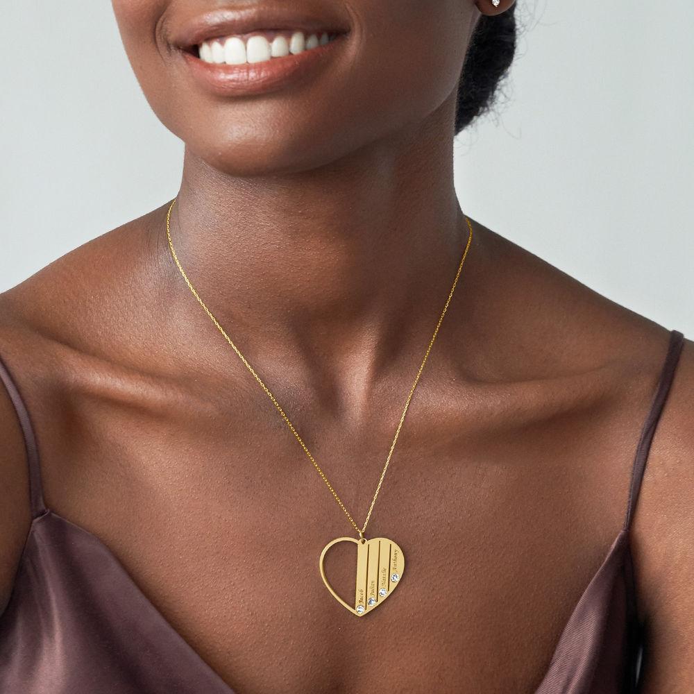 Collana per la Mamma con Pietre Portafortuna in Oro 10K - 2